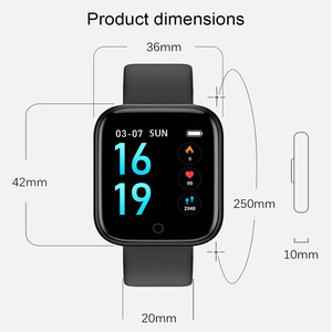 Image 5 - 2019 Men Women Waterproof T80 Smart Watch Bluetooth Smartwatch Heart Rate Monitor Fitness Tracker pk P70 P68 Plus P80 B57