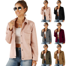 Fashion new ladies jacket casual autumn winter female loose shirt
