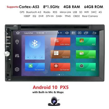 "4+64G OctaCore7""2Din Android 10 Car DVD Radio Multimedia Player 1024*600 Universal GPS Navigation autoradio Stereo Audio 4G WIFI"