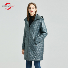 QUILTED Coats MODERN Parka Long-Jacket Hooded Fleece-Liner Spring Thin Autumn Women Cotton