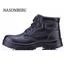 NASONBERG Breathable Mens Steel Toe Work Safety Shoes CasualOutdoor Sneakers Puncture Proof Boots Comfortable Industrial