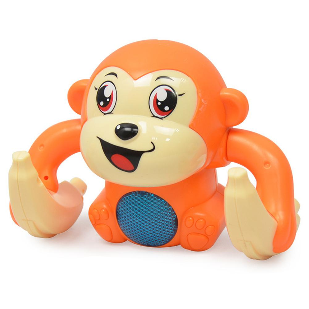 Милая подвижная обезьяна Электрический звуковой контроль с музыкой светодиодный Интерактивная детская игрушка