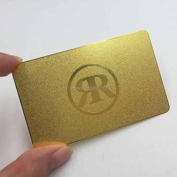 Gold Luxury Metal loyalty VIP Card Metal Membership Card Business Card e loyalty