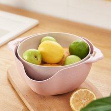 Многофункциональный кухонный фильтр двойной Слив Корзина для овощей фрукты стиральная сетчатые чаши