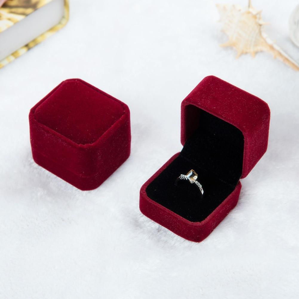 1PC Velvet Jewelry Box Necklace Ring Earring Display Storage Organizer Case Rectangular Heart Shape Gift Box Packing Box
