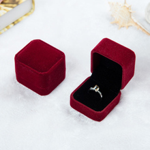 1PC Velvet Jewelry Box Necklace Ring Earring Display Storage Organizer Case Rectangular Heart Shape Gift Box Packing Box