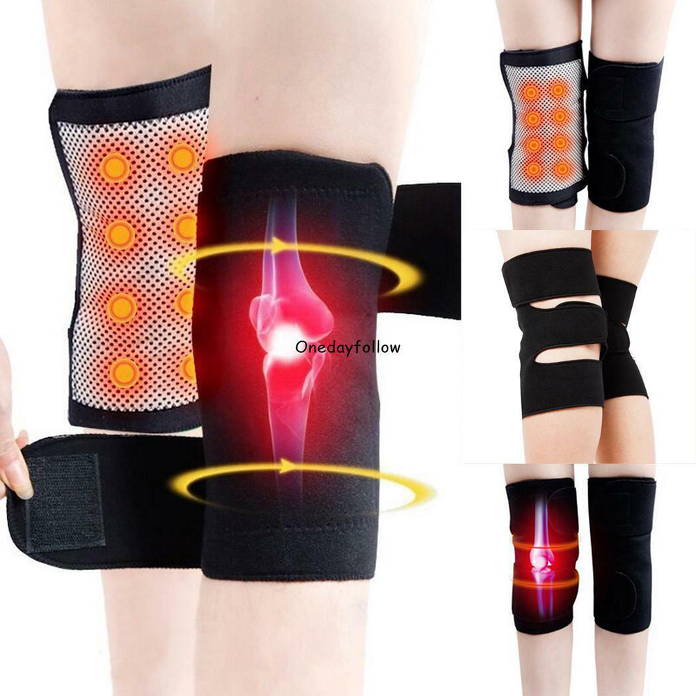 1 Pair Tourmaline Magnetic Therapy Self Heating Kneepads Arthritis Brace Support Pain Relief Knee Massager Arthritis Treatment