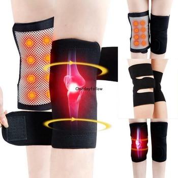 1 Pair Tourmaline Magnetic Therapy Self Heating Kneepads Arthritis Brace Support Pain Relief Knee Massager Arthritis Treatment