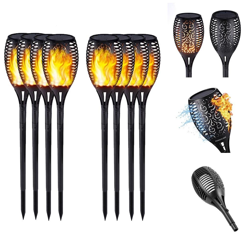 Outdoor Garden Solar Flame Light Flickering Waterproof LED Torch Lamp Yard Decoration Outdoor Street Lamp Landscape Lawn Lamp