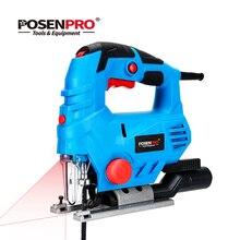 POSENPRO 800 Вт Лазерный лобзик с переменной скоростью, многофункциональный Электрический лобзик по дереву, металлическая линейка, 2 шт., пилы для деревообработки