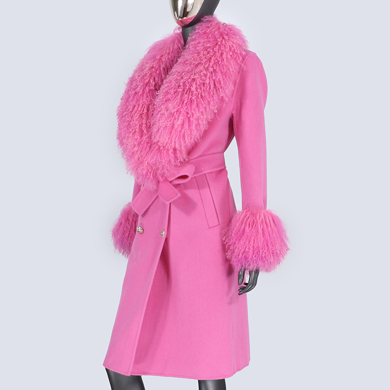 Hfb14428b4c0942b1a81b80a96944181fL 2021X-Long Natural Mongolia Sheep Real Fur Coat Autumn Winter Jacket Women Double Breasted Belt Wool Blends Overcoat Streetwea