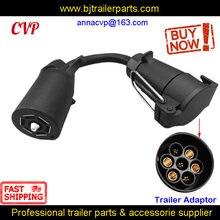 Cvp 7 pinos reboque soquete redondo plugue fêmea para 7 rv lâmina adaptador de reboque conector rv peças caravana campista acessórios