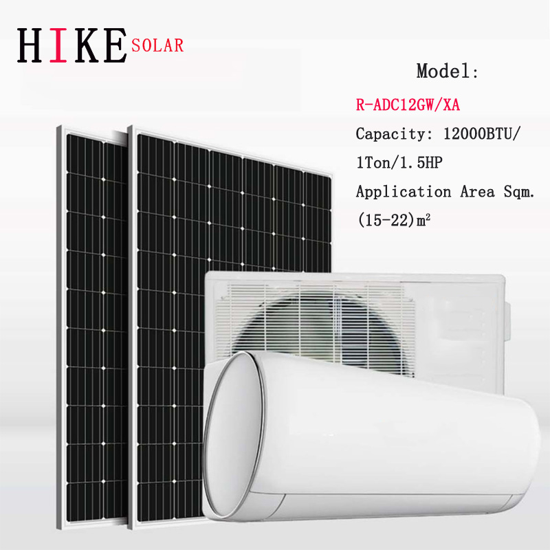 Hikesolar 12000BTU 1.5HP ACDC Hybrid SOLAR POWERED Or AC Powered AIR CONDITIONING Aire Acondicionado OF SOLAR AIR CONDITIONER