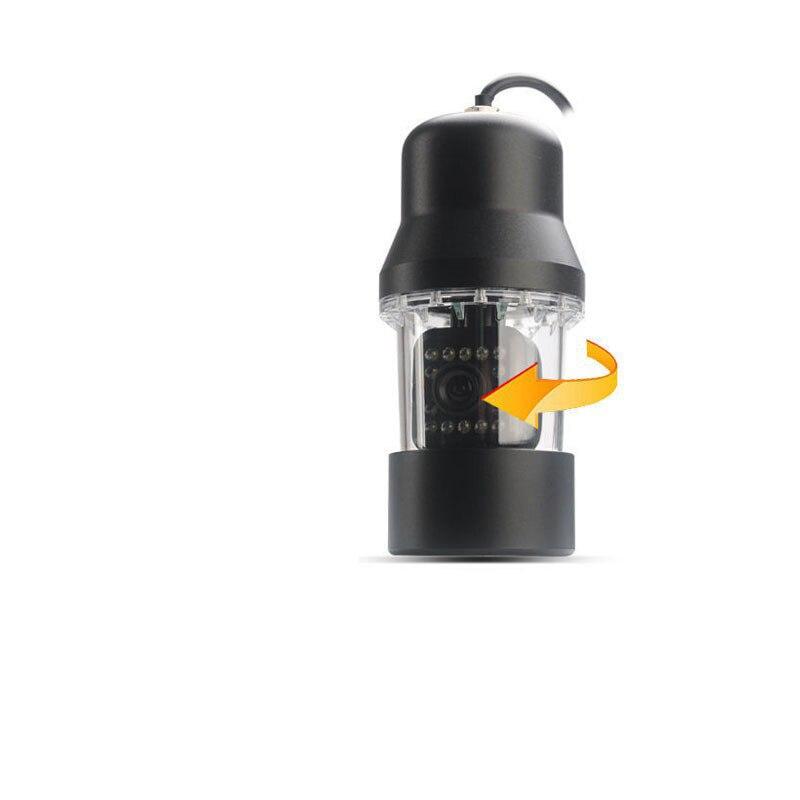 360 Вращение CCD Водонепроницаемая подводная камера для рыбалки Видео Камера просмотра 20 метров кабель цветной монитор батарея
