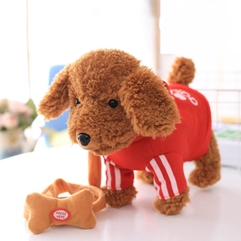 120 Songs Ancient Poetry Pet Music Plush Toy Dog Walking Smart Machine Leash Dog Children Gift Birthday Gift