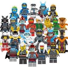 24 pçs conjunto mestres de spinjitzu jay cole kai zane lloyd nya mini boneca de brinquedo figura construção motocicleta bloco brinquedos presente