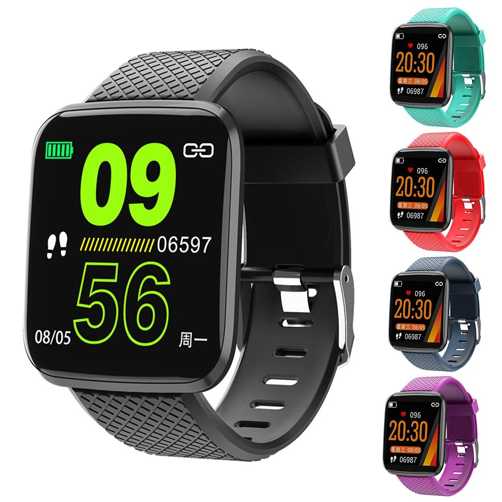 Smart Bracelet Blood-Pressure Big-Screen Fitness-Tracker Heart-Rate Bluetooth Sports