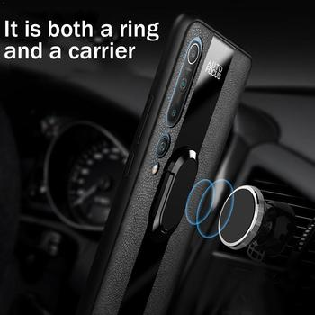 New Arrival Phone Case For Xiaomi Redmi Note 9S 9 Car Cover Magnetic Ring Pro 4 Colors Case Holder Leather TPU S9W3 image