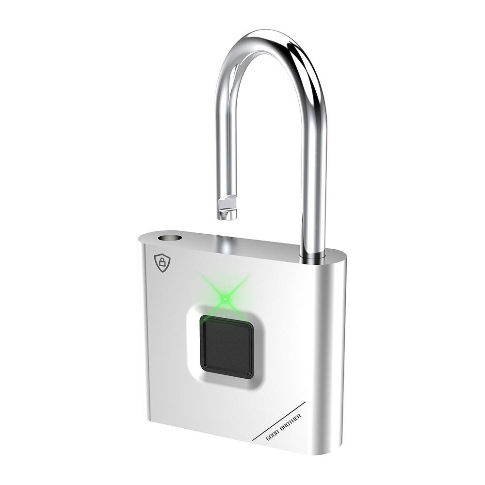 Thumbprint Door Padlocks Rechargeable Door Lock Fingerprint Smart Padlock Quick Unlock Keyless USB 6