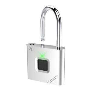 Image 5 - Thumbprint Door Padlocks Rechargeable Door Lock Fingerprint Smart Padlock Quick Unlock Keyless USB