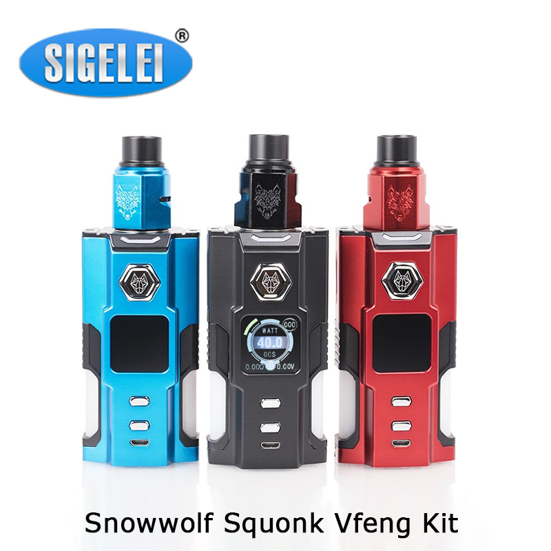 Cleanrence Sigelei Snowwolf Squonk Vfeng 120W Kit Powered By Single 21700/20700/18650 Battery With 3.0ml Squonk BF RDA Tank