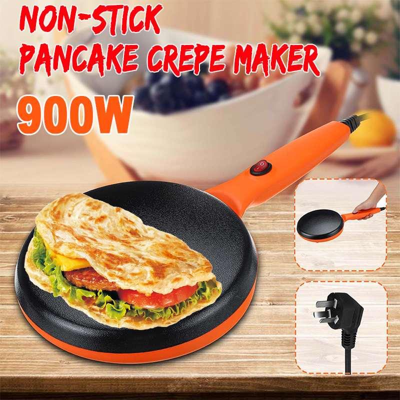 220V Non-stick Electric Crepe Maker Pizza Pancake Machine Non-Stick Griddle Baking Pan Cake Machine Kitchen Cooking Tools