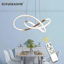 Белый/черный современный светодиодный подвесной светильник для гостиной, спальни, столовой, подвесной светильник, светодиодный подвесной светильник, домашнее освещение, светодиодный Блеск
