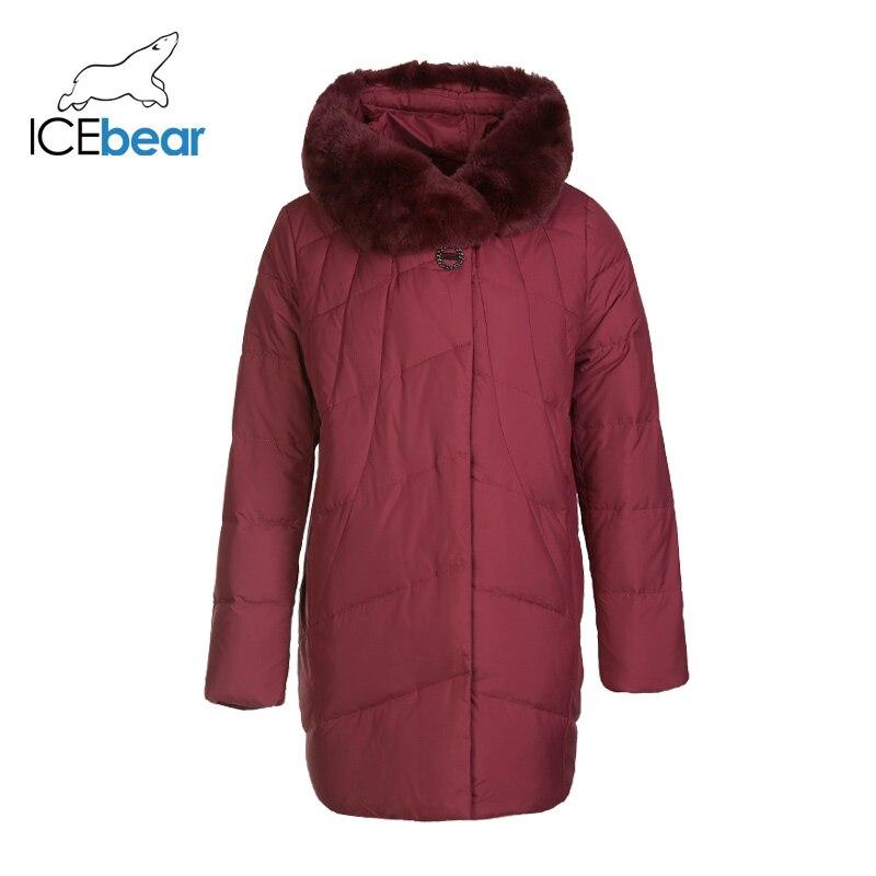 ICEbear 2019 New Winter Women's Down Coat Fashion Warm Female Parkas Brand Women's Clothing  D4YY83020Y