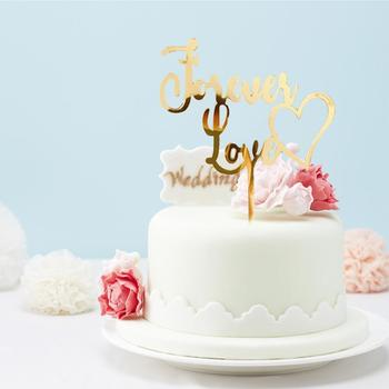 Forever Love Cake Dessert Topper Baking Decoration Birthday Cupcake Topper Party Cake Decorations Valentines Day Party Supplies image