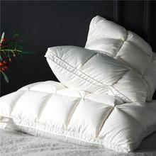 Include 2Pcs White Pink Premium High End Natural Goose Down Pillows for Sleeping Down Pillow 100% Cotton Downproof Pillow Cover