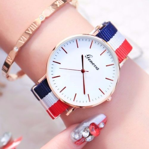 Fashion Couple Watch Casual Nylon Women Men Wrist Watches Lovers Quartz Clock Sweetheart Gift Drop Shipping Hour Only Date Ctpor