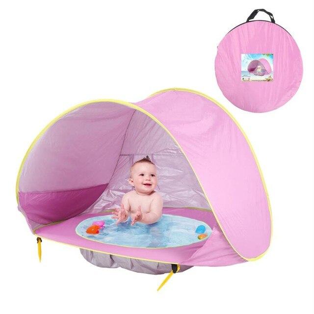 אוהל עם צילון ובריכה לתינוק  2