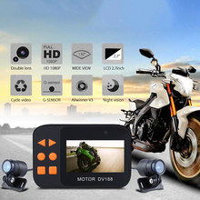 1 Set DV188 Action Camera Motorcycle FHD 1080P DVR Camcorder 2.7 Inch LCD Video Recorder 130° 2 Waterproof Camera Multi-language(China)