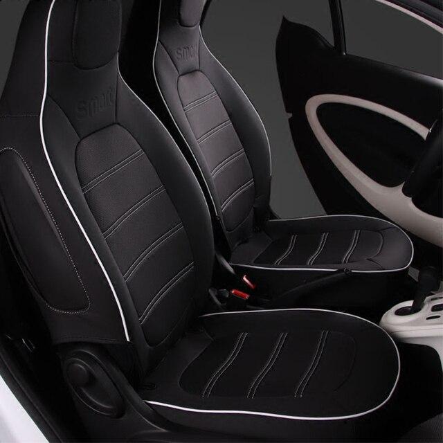רכב עור מושב כיסוי פנים קישוט סטיילינג אביזרי עבור 2015 2019 מרצדס חכם 453 fortwo הגנת כרית