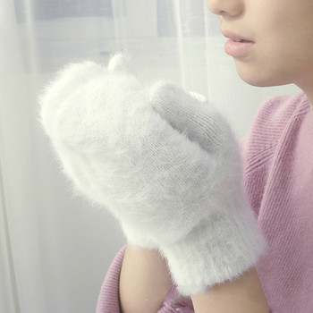 Śliczny królik rękawiczki wełniane kobiet zimowe rękawiczki factory outlet futrzane rękawice bez palców rękawiczki zimowe rękawiczki kobiety dziewczyny rękawiczki tanie i dobre opinie ZYHWLX Dla dorosłych Stałe Nadgarstek Moda tumao-21 Uniform code female adult Keep warm Rabbit hair Autumn winter