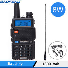Baofeng UV 5R 8 واط عالية قوية اتجاهين راديو واكي تاكي محمول 8 واط CB هام راديو 10 كجم طويلة المدى Pofung UV5R جهاز الإرسال والاستقبال