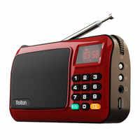 Rolton Mni FM Speaker Radio Portatile Mp3 Giocatore di Musica Della Carta di TF USB Per PC iPod Del Telefono Con Display A LED E torcia elettrica di Controllo della lampada