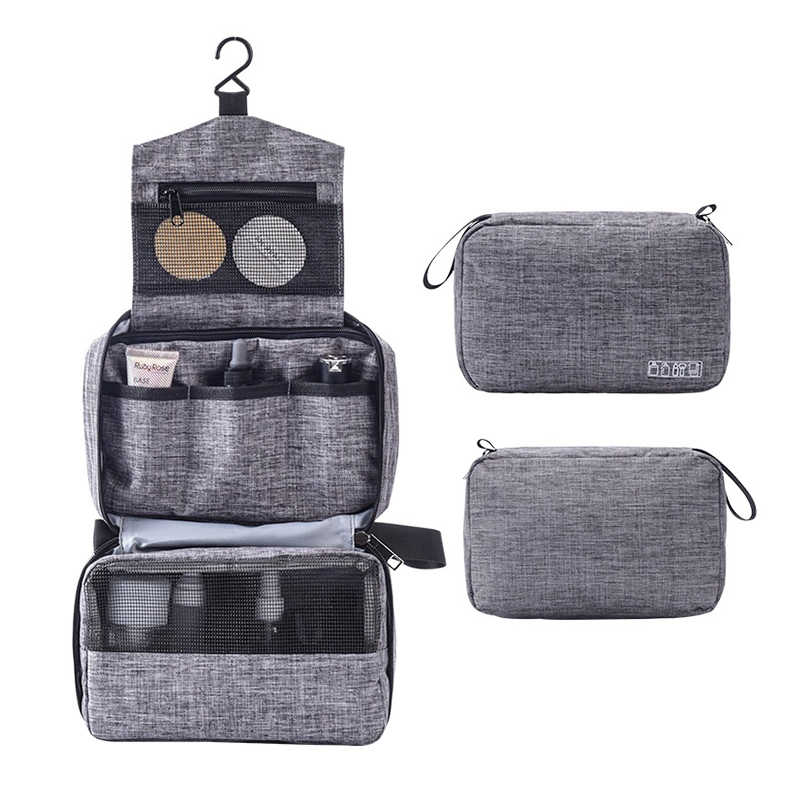Vrouwen Mannen Reizen Opknoping Make-Up Tas Nodig Toilettas Wash Organizer Beauty Vanity Make Up Pouch Bagage Accessoires