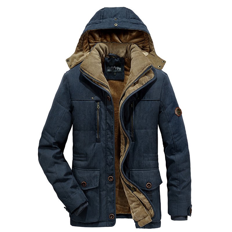 -20 Degree 7XL Winter Parkas Men Jacket Coat Thick Warm Velvet Hooded Overcoat Men Windbreaker Multi-pockets Chaquetas Hombre