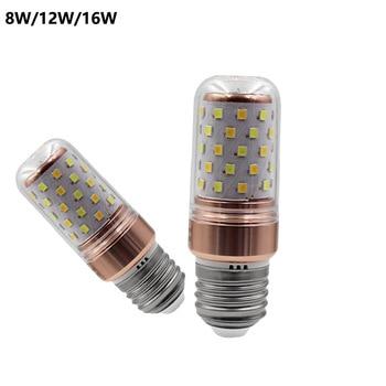 20pcs/lot E27 220v Led Lamp 2835 Smd Led Bulb E14 Corn 8w 12w 16w Lamp Bombillas Three Color Temperaturelight Lampada Lighting