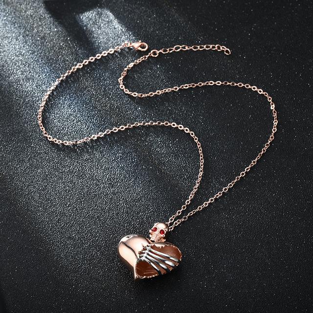 HEART SKULL NECKLACE (6 VARIAN)