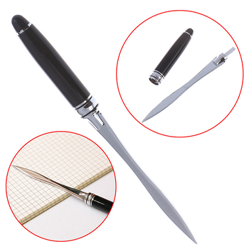 1PCS Useful Black Office School Letter Opener Cut Paper Tool Letter Supplies Cutter Stainless Steel Letter Opener 1
