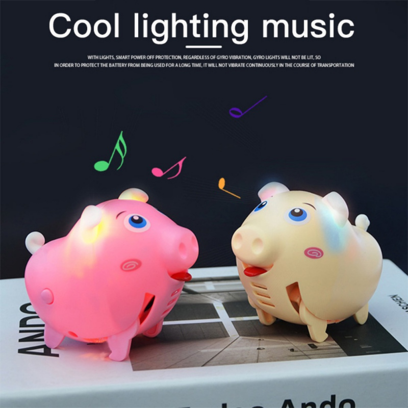 Kids Toys Cute Electric Music Walking Pig LED Light Glow Electronic Pets Children Educational Interactive Toys