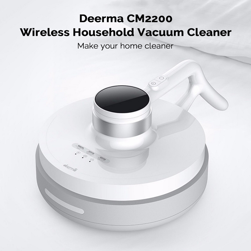 XIAOMI DEERMA CM2200 Wireless Anti Dust Mites UV Vacuum Cleaner with Soft Rolling Brush for Bed and Sofa 2