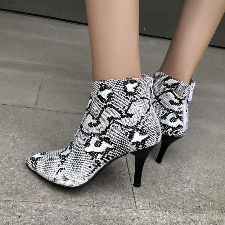 Büyük boy-çizmeler kadın ayakkabıları yarım çizmeler bayanlar çizmeler ayakkabı kadın kış düz renk yuvarlak kafa geri fermuar
