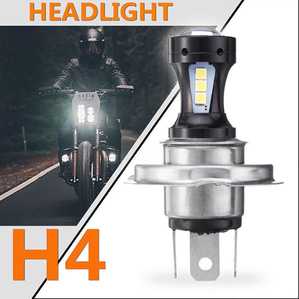 2019 H4 Motorcycle Car SMD 3030 18-LED Bright Headlight DRL Fog Light Lamp Bulb