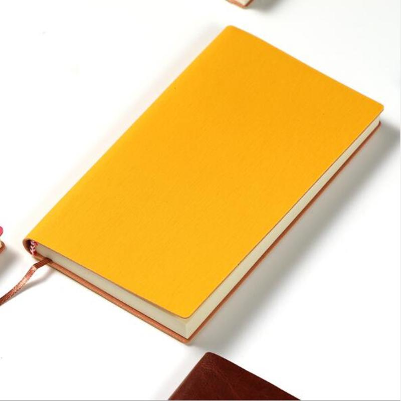 Soft PU Leather Notebook Writing Journal A5 Portable Notebook Home Daily Office Business Travel Notepad-B5 Black