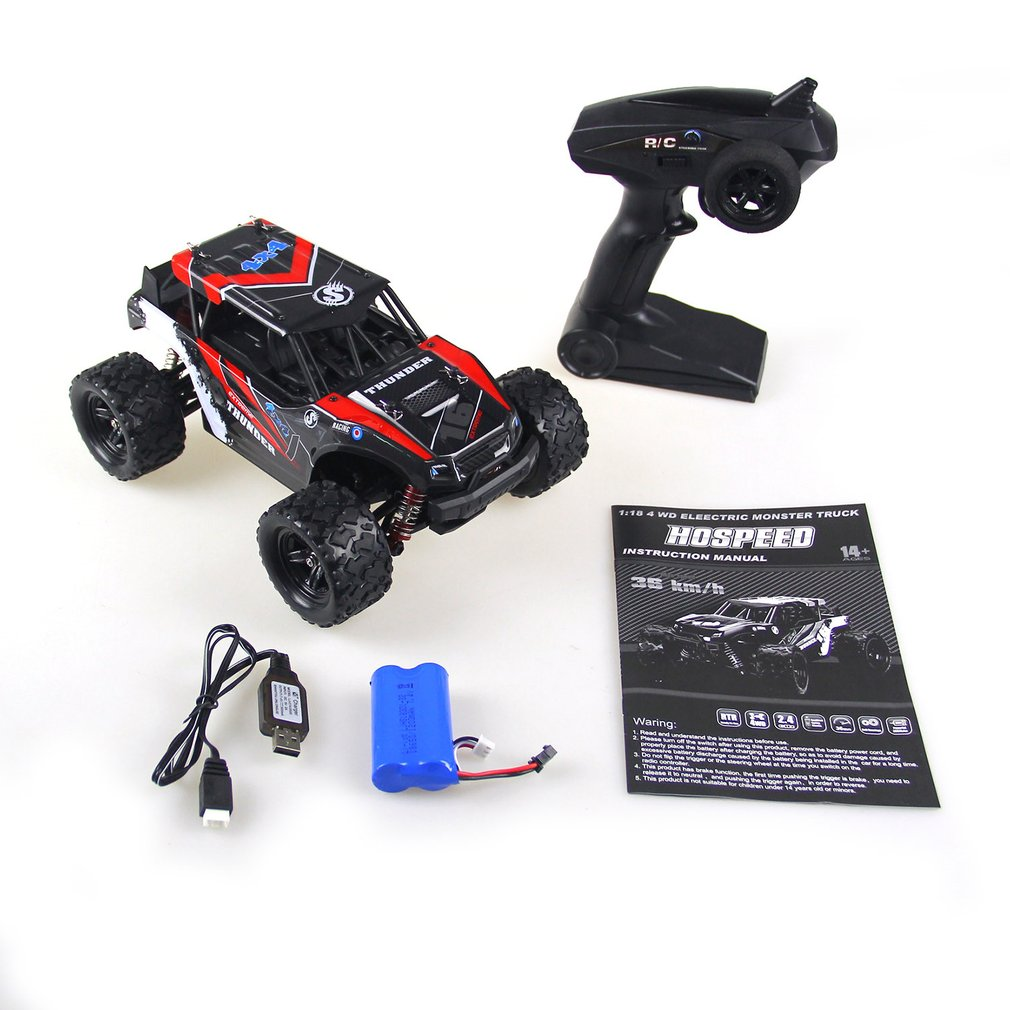 2.4G 1:18 4WD RC Big Foot <font><b>Car</b></font> Truck High Speed Remote Control Off-road Crawler Vehicle Model RTR Toy For <font><b>Kids</b></font> Gift image