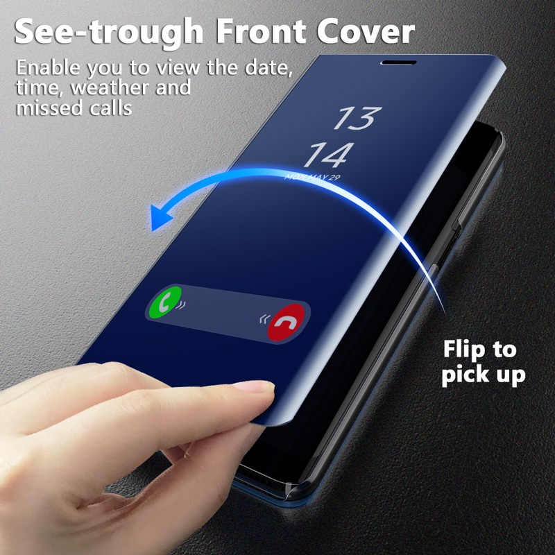 GETIHU 360 Mirror Flip Case For Samsung Galaxy S10 Edge S9 S8 S7 S6 Plus Note 9 8 A8 A7 A3 Coque Protection Mobile Phone Cover