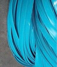 70Meters(500g)  Width:8mm Blue Gradient Flat Synthetic Rattan Weaving Material Plastic Knit Repair Chair Table PE Rattan